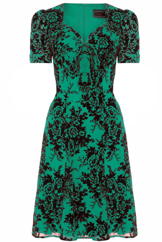 Voodoo Vixen Green Vintage 1950s Dress 2015