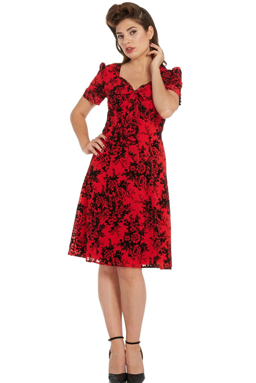 Voodoo Vixen Red Vintage 1950s Dress 2015