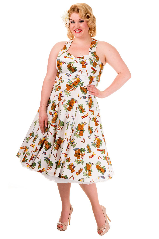 Vintage Tiki Dreamer Plus Size Banned Dress