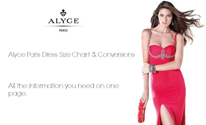 Alyce Paris Dress Size Chart