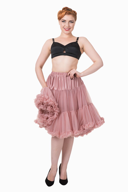 Banned Retro 50s Starlite Dusty Pink Petticoat