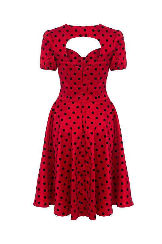 Voodoo Vixen Eliza Polka Dot Dress