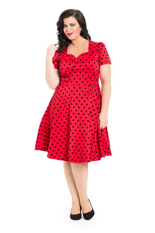 Voodoo Vixen Eliza Dress | Red Vintage 50\'s Polka Dot Dress | Free ...