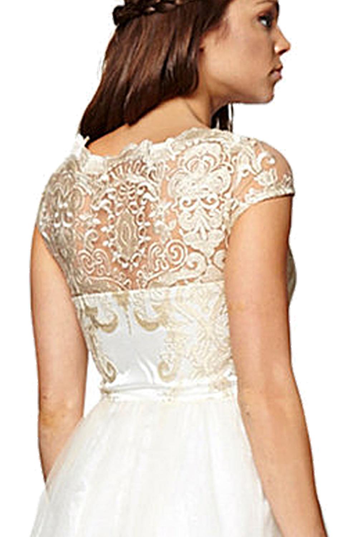 Felicity Cream 1950s Shankle Length Wedding Dress