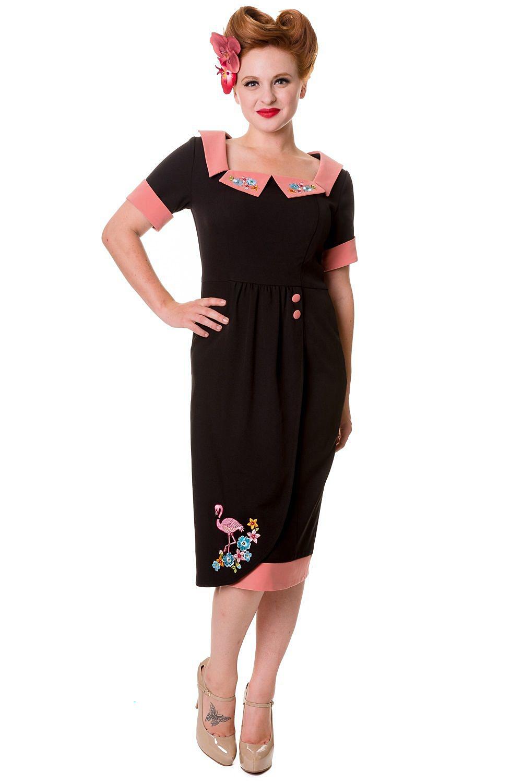 Banned Black Flamingo Rockabilly Dress