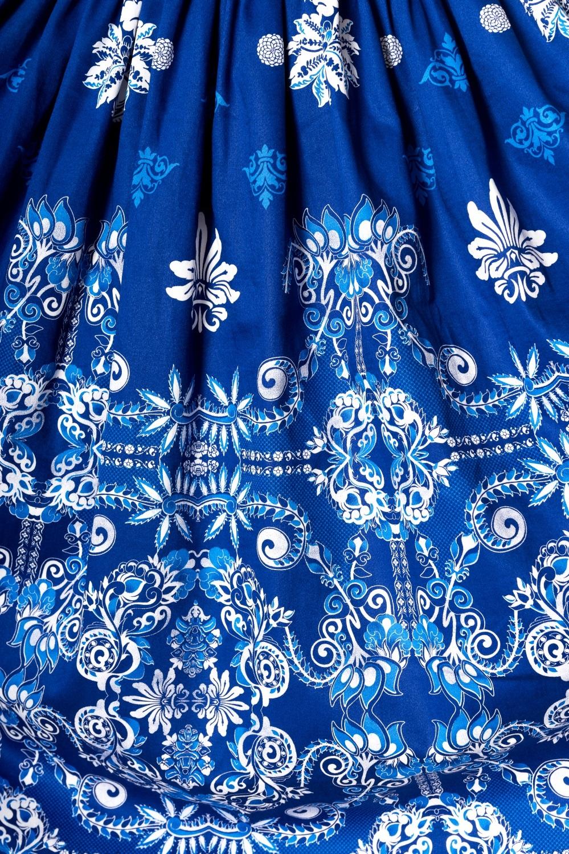 Dancing Days Follow You Blue 1950s Swing Dress
