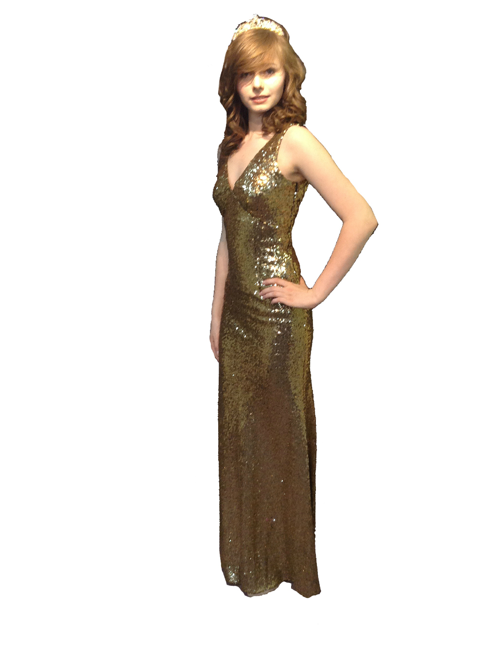 New Gold Sequin Marilyn Nazz Dress