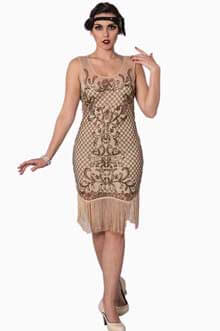 Great-Gatsby-Beige-Sequin-Dress