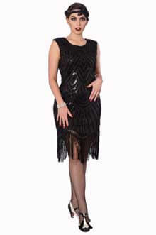 Great Gatsby Black Sequin Dress