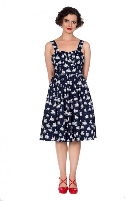 Banned Retro 50s Summer Swan Swing Dress