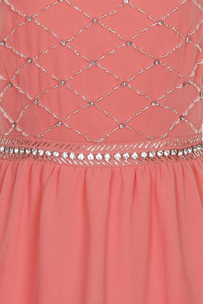 Nazz Hana Coral Mini Prom Dres