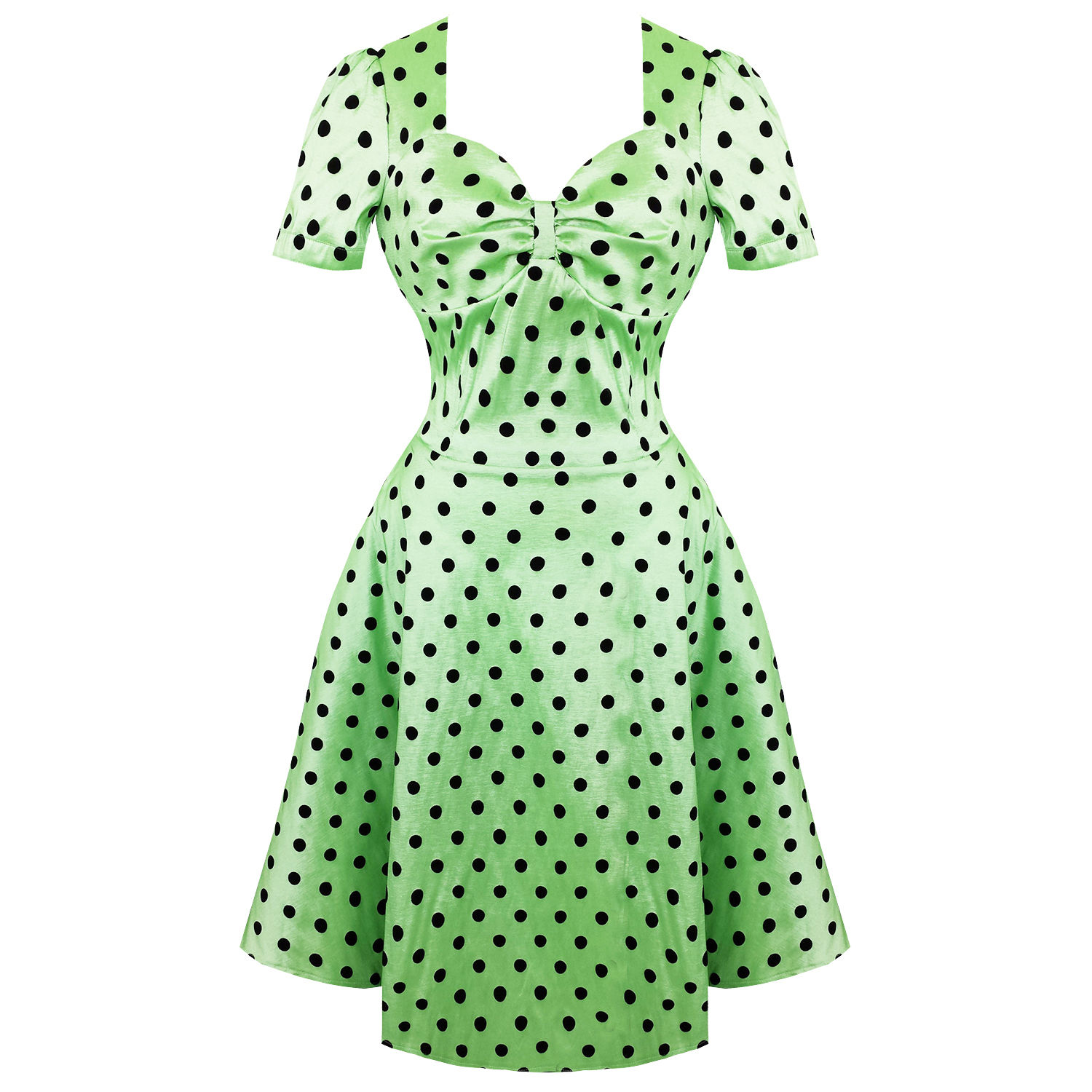 Voodoo Vixen Hanna Polka Dot Dress Without Petticoat