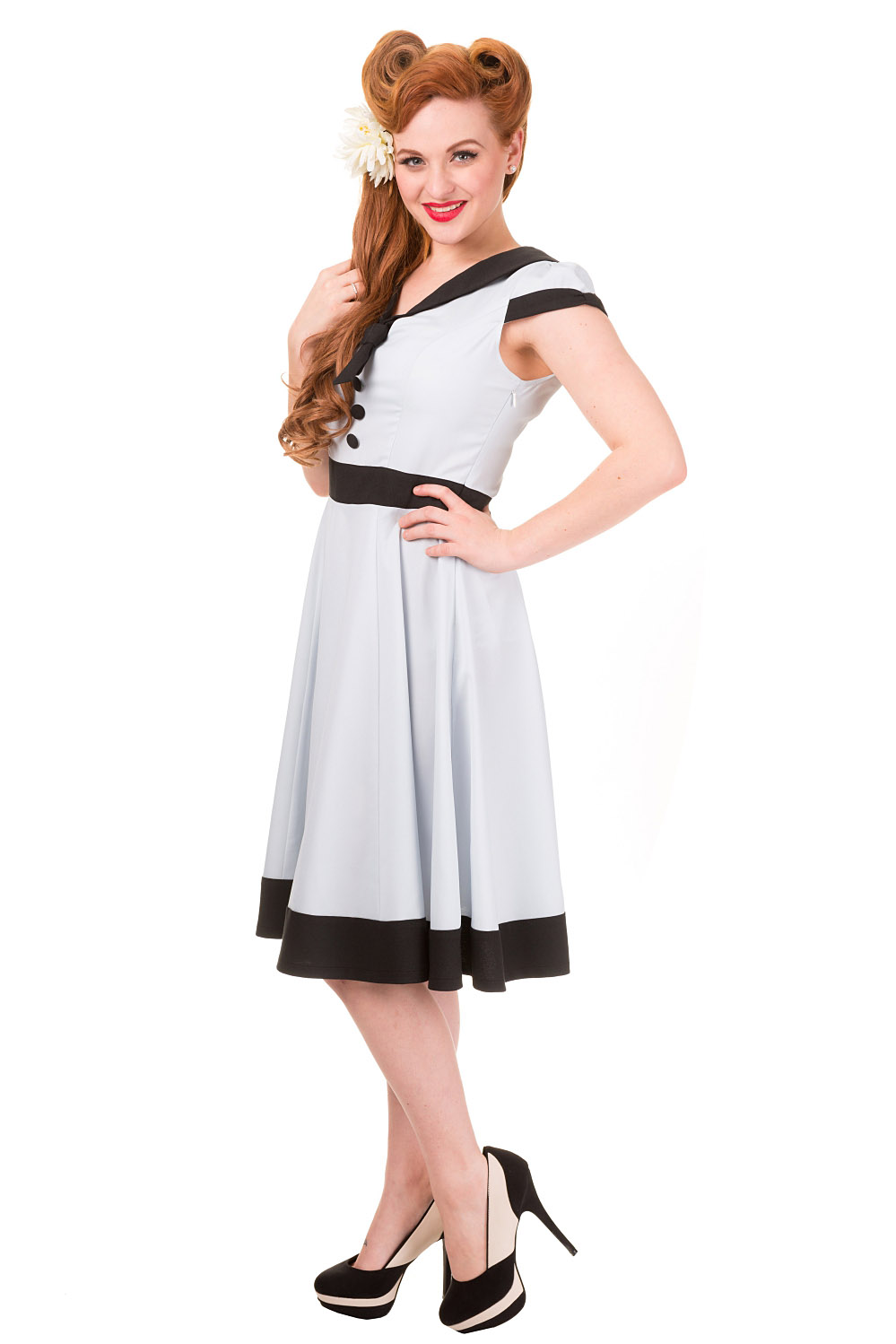 Banned Apparel Cream Heartlines Dress