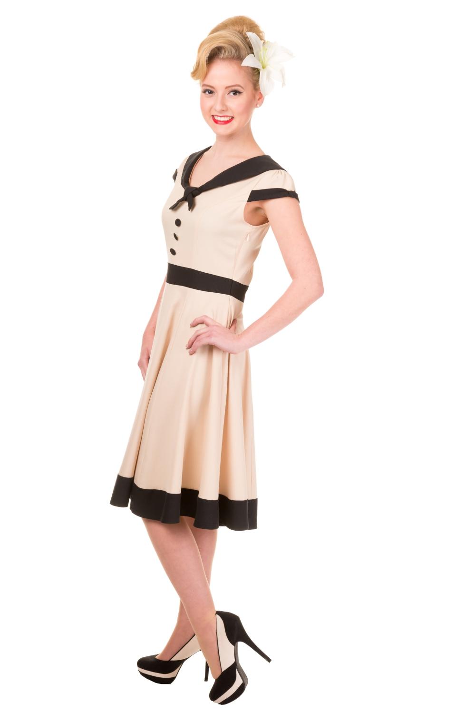 Banned Cream Heartlines Sailor Vintage Dress