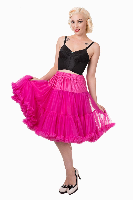 Banned Retro 50s Starlite Hot Pink Petticoat