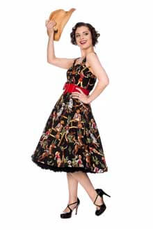 Banned Retro Howdy Partner Midi Flare Dress