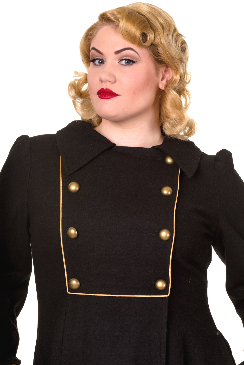 Banned Black Into The Night 1940s Coat Plus Size