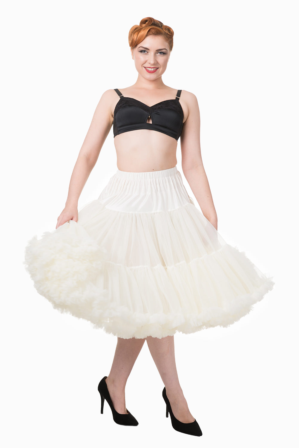 Banned Retro 50s Lizzy Lifeforms Ivory Petticoat