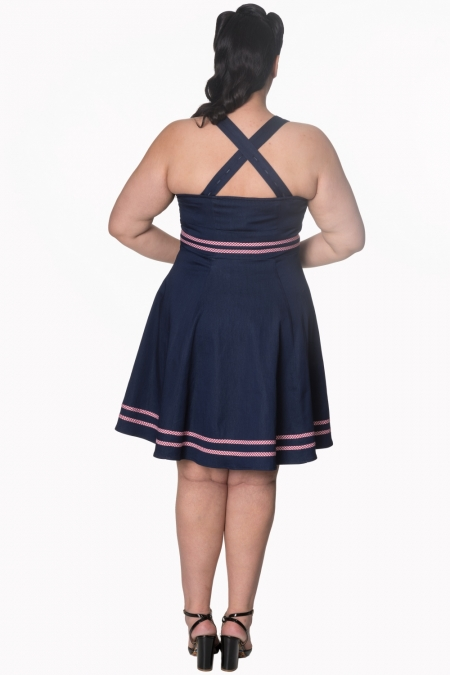 Dancing Days Jadore 1950s Denim Swing Dress
