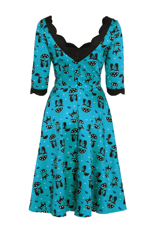 Voodoo Vixen Blue Katnis Dress