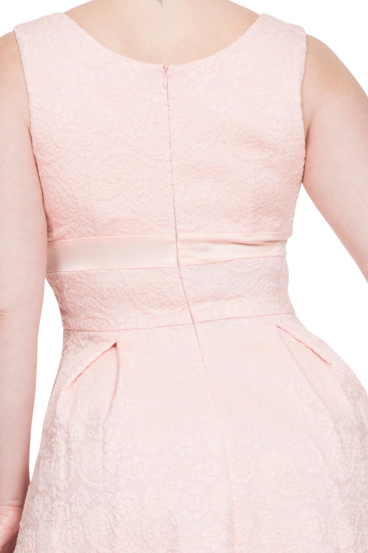 Voodoo Vixen Peach Pink Lauren 50s Lace Dress