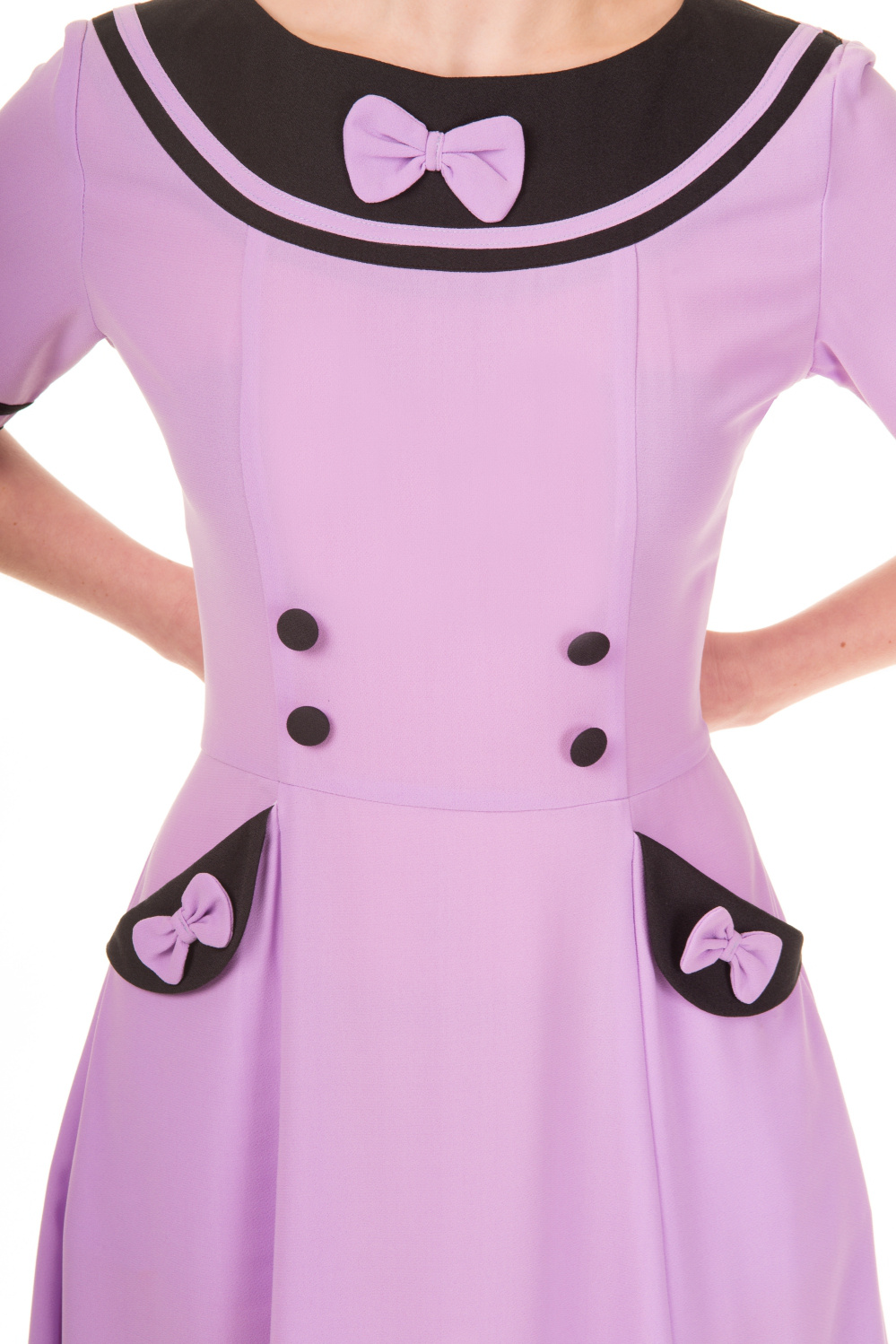 Banned Eliza Lavender Midi Rockabilly Dress