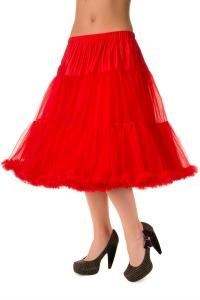Red Knee Length Petticoat