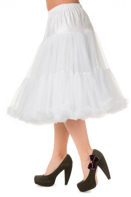 Banned Retro 50s Lizzy Lifeforms White Petticoat