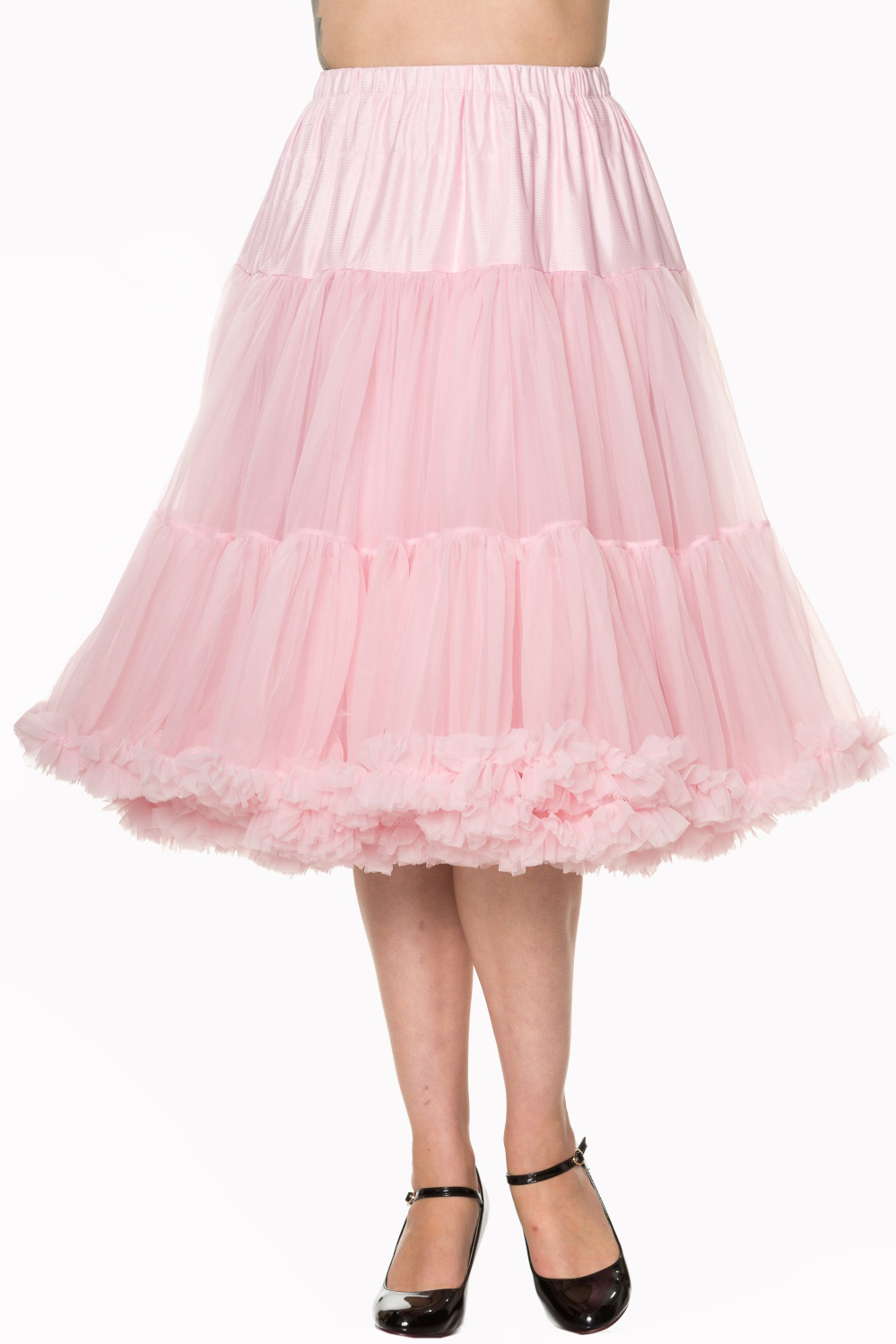 Banned Retro 50s Lizzy Lifeforms Light Pink Petticoat