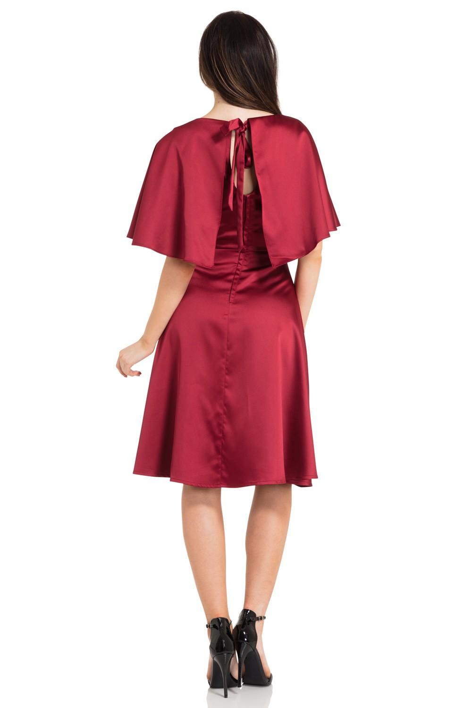 Vixen Lisa 1930s Cape Dress In Wine