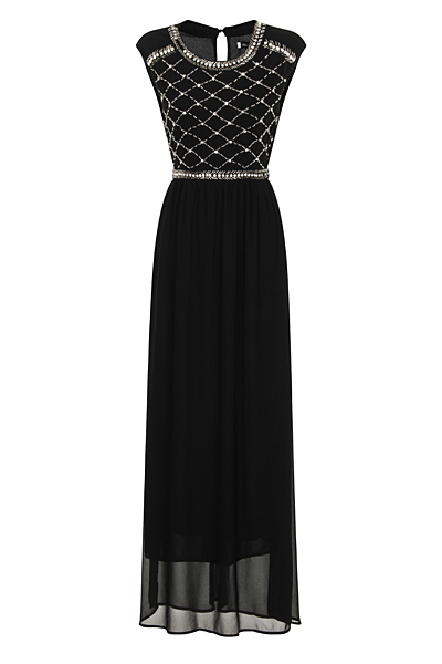 Black Chiffon Lizzie Maxi Prom Dress - Nazz Collection