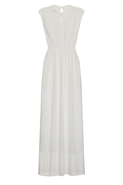 White Lizzie Maxi Prom Dress by Nazz Collection