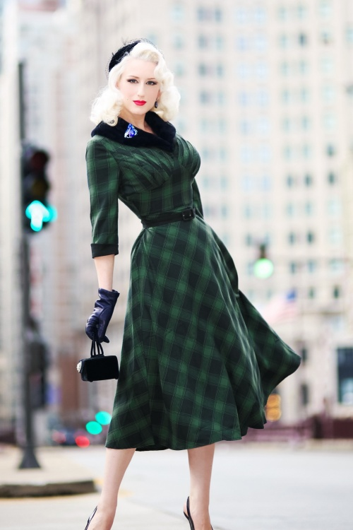 Vixen Lola Tartan Dress