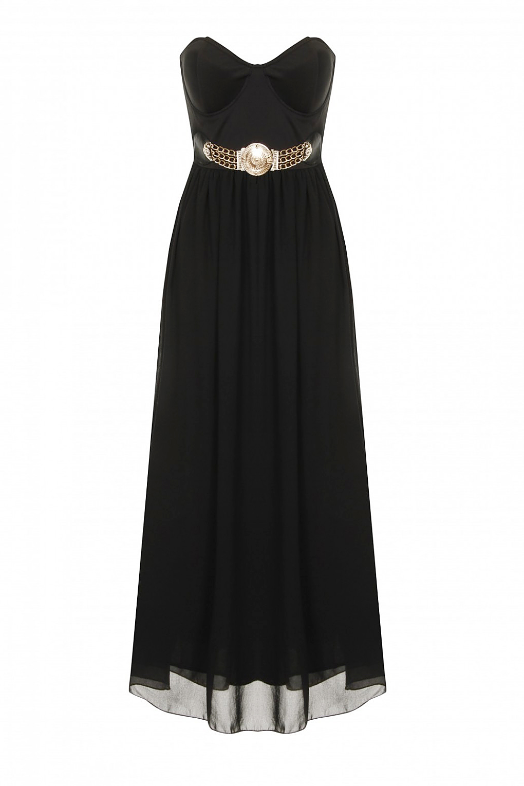 Black Lucy Chiffon Summer Prom Dress
