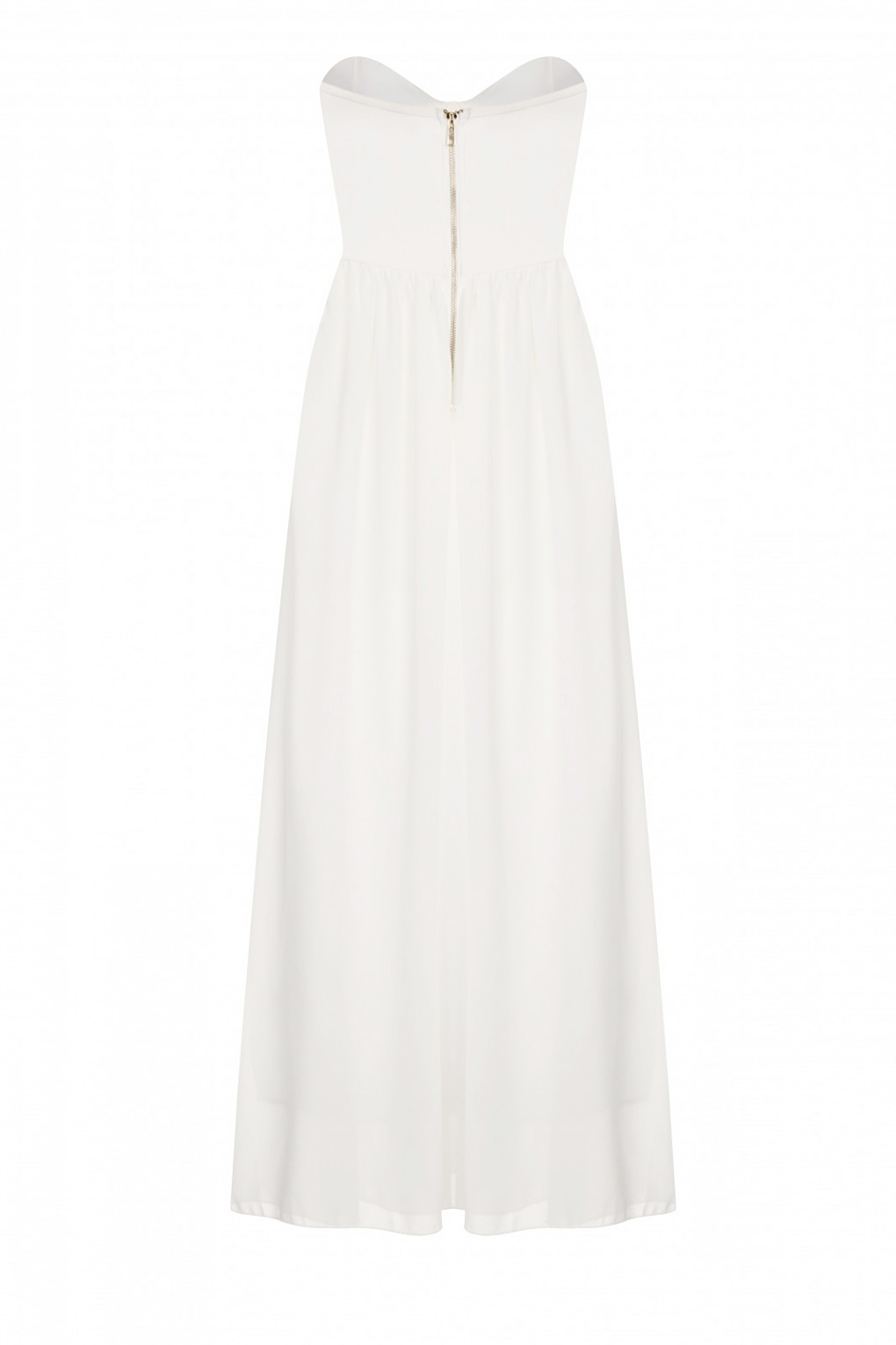 White Lucy Maxi Prom Dress - Nazz Collection