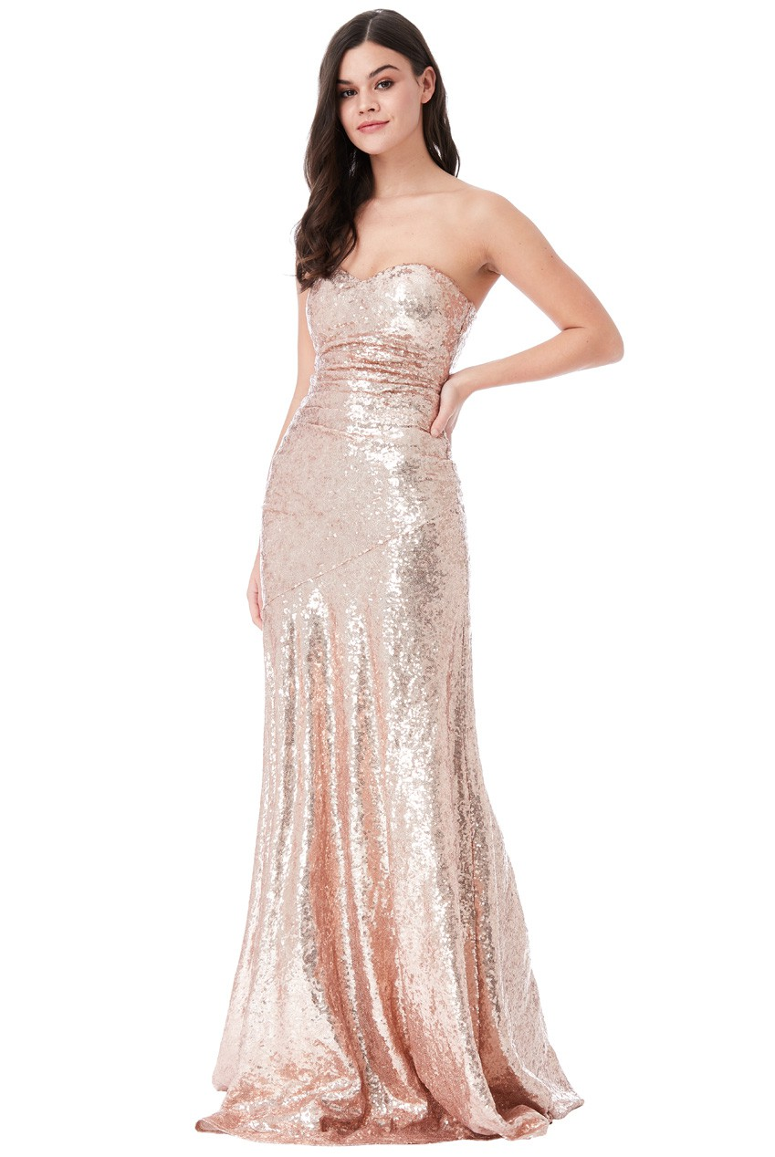 30s Marilyn Magic And Sparkle Maxi Prom Dress