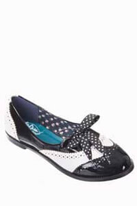 Dancing Days Milana 60s Brogue Black White Shoes