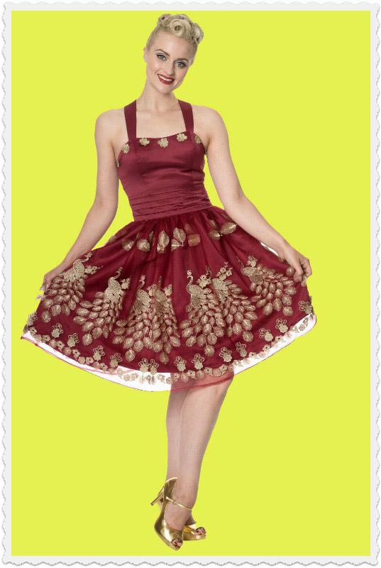 Burgundy Vintage Prom Dress