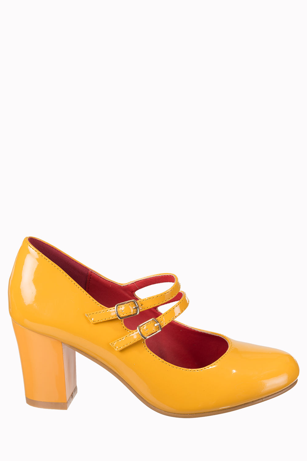 Dancing Days Golden Years 60s Patent Mustard Shoes