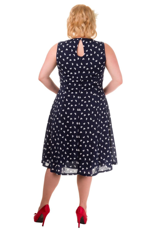 Plus Size Banned Songbird Navy Dress