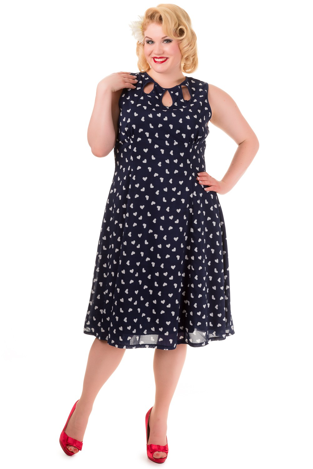 Banned Vintage Navy Songbird Plus Size Dress