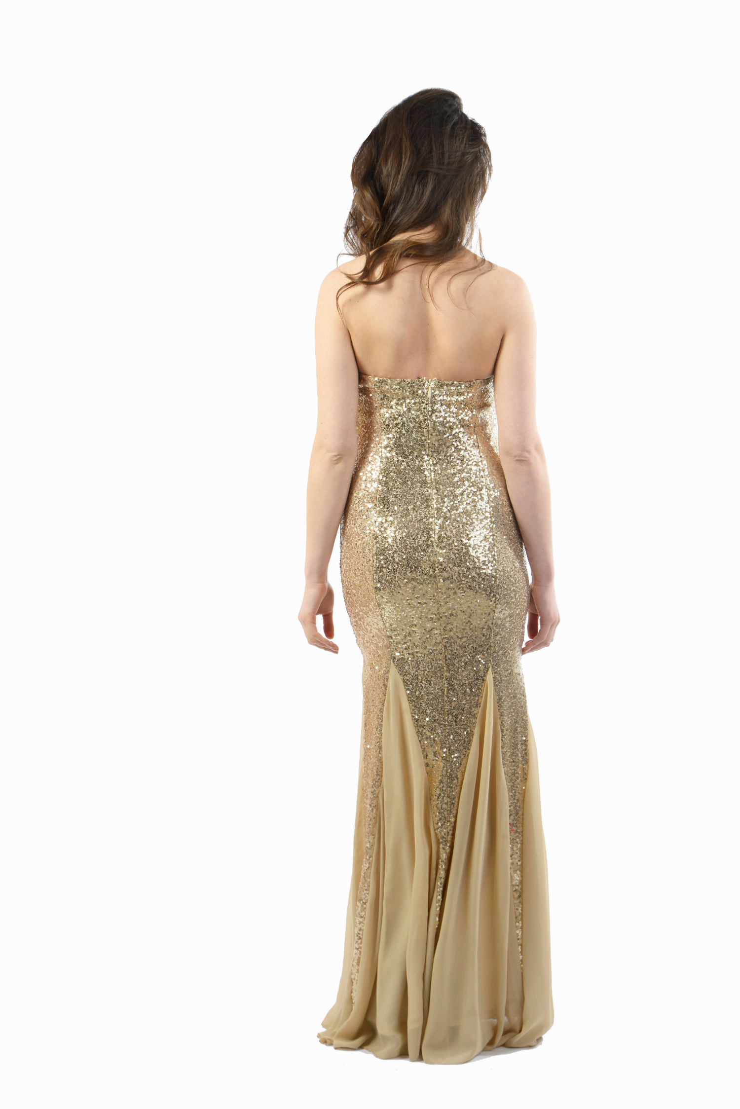 Nazz Collection Elisa Gold Dress