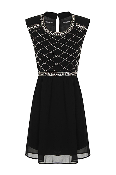 Nazz Collection Hana Black Mini Prom Dress
