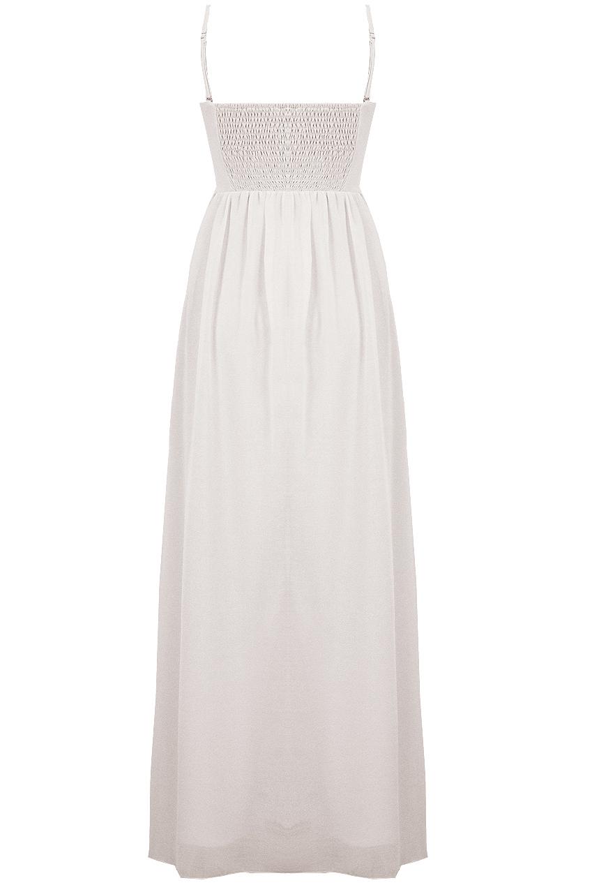 White Tiffany Nazz Bridesmaids Dress