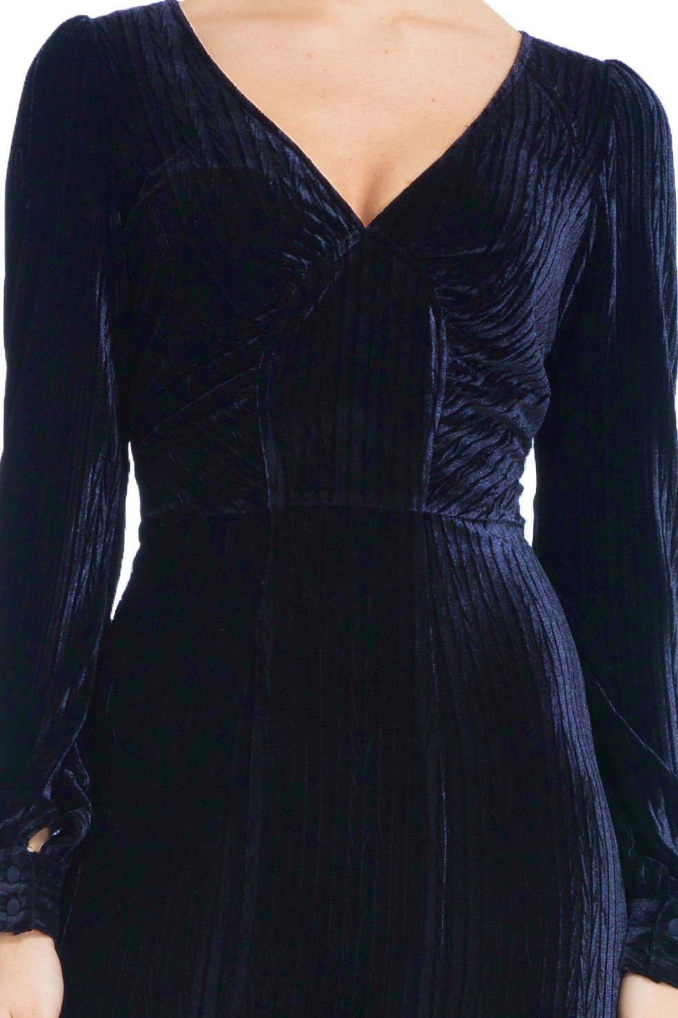 30s Vixen Nicki Navy Glamour Velvet Maxi Dress
