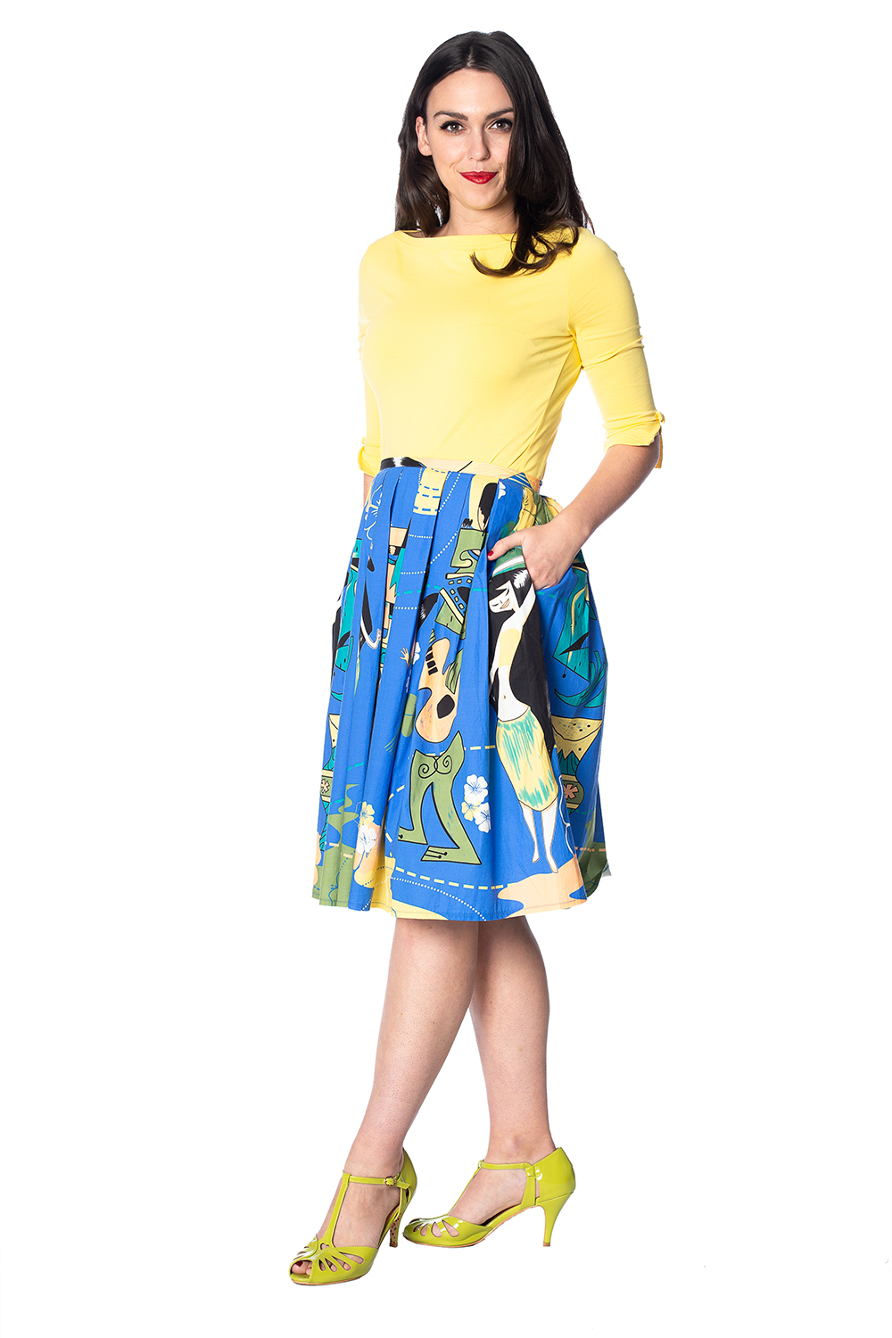 Banned Retro 50s Oonagh Yellow Top