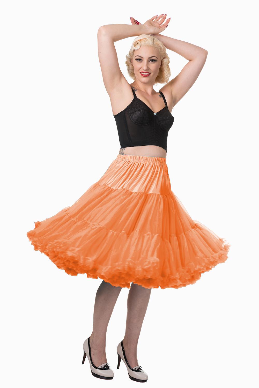 Banned Retro 50s Lizzy Lifeforms Orange Petticoat