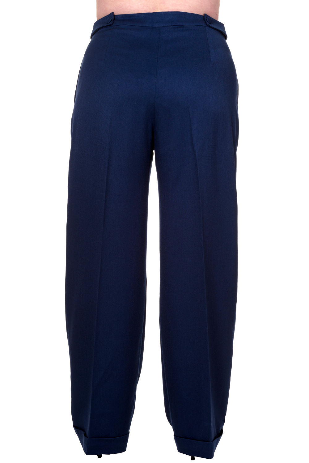 Banned Party On 1940s Navy Plus Size Trousers