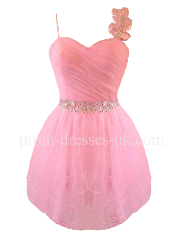 Enlarge Mini Pink Prom Dress