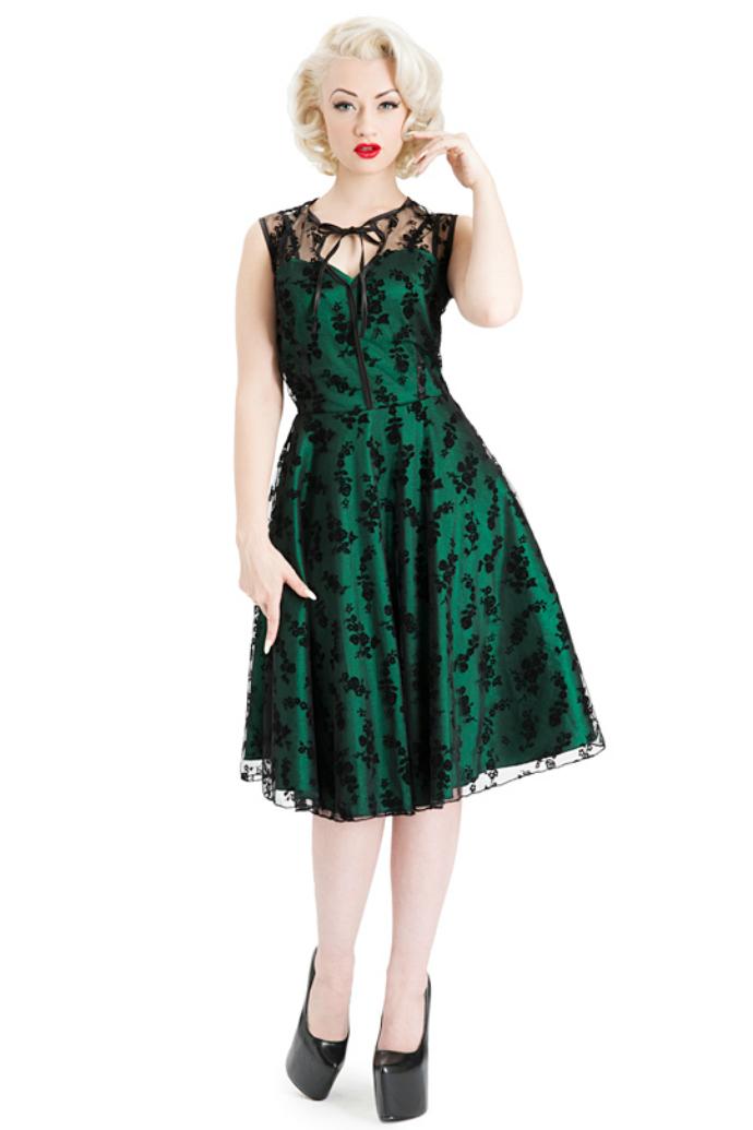 Voodoo Vixen Green Penny Dress
